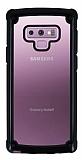 Samsung Galaxy Note 9 Jelly Bumper Şeffaf Ultra Koruma Siyah Kılıf