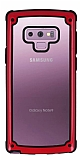 Samsung Galaxy Note 9 Jelly Bumper Şeffaf Ultra Koruma Kırmızı Kılıf
