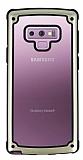 Samsung Galaxy Note 9 Jelly Bumper Şeffaf Ultra Koruma Beyaz Kılıf