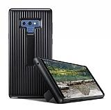 Samsung Galaxy Note 9 Standlı Siyah Rubber Kılıf