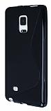 Samsung Galaxy Note Edge Desenli Siyah Silikon Kılıf