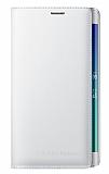Samsung Galaxy Note Edge Orjinal Beyaz Flip Wallet