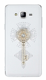 Samsung Galaxy On7 Taşlı Anahtar Şeffaf Silikon Kılıf