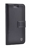 Samsung Galaxy S10 Cüzdanlı Yan Kapaklı Siyah Deri Kılıf