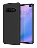 Samsung Galaxy S10 Plus Mat Siyah Silikon Kılıf
