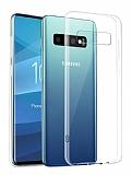 Samsung Galaxy S10 Plus Ultra İnce Şeffaf Silikon Kılıf