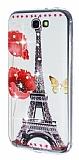 Samsung N7100 Galaxy Note 2 Ta�l� Eiffel Kulesi Silikon K�l�f