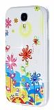 Samsung i9500 Galaxy S4 Ta�l� �i�ek Silikon K�l�f