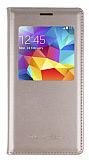 Samsung Galaxy S5 mini Uyku Modlu Pencereli Gold Kılıf
