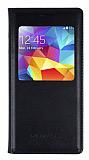 Samsung Galaxy S5 mini Uyku Modlu Pencereli Siyah Kılıf
