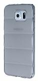 Samsung Galaxy S6 Bubble Şeffaf Siyah Silikon Kılıf