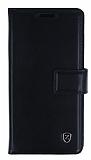 Samsung Galaxy S6 Edge C�zdanl� Yan Kapakl� Siyah Deri K�l�f