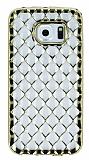 Samsung Galaxy S6 Edge Diamond Gold Kenarlı Şeffaf Silikon Kılıf