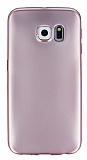 Samsung Galaxy S6 Edge Metalik Rose Gold Silikon K�l�f