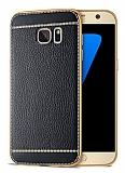Samsung Galaxy S6 Edge Plus Dikiş İzli Siyah Silikon Kılıf