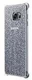 Samsung Galaxy S6 Edge Plus Orjinal Glitter Silver Rubber Kılıf