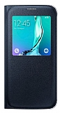 Samsung Galaxy S6 Edge Plus Orjinal Pencereli View Cover Lacivert Kılıf