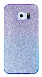 Samsung Galaxy S6 Edge Plus Simli Mor Silikon Kılıf