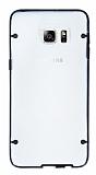 Samsung Galaxy S6 Edge Plus Siyah Silikon Kenarlı Şeffaf Rubber Kılıf