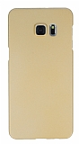 Samsung Galaxy S6 Edge Plus Tam Kenar Koruma Gold Rubber Kılıf