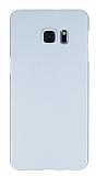 Samsung Galaxy S6 Edge Plus Tam Kenar Koruma Silver Rubber Kılıf