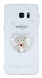 Samsung Galaxy S6 Edge Plus Ta�l� Love �effaf Silikon K�l�f
