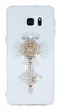 Samsung Galaxy S6 Edge Plus Ta�l� Anahtar �effaf Silikon K�l�f