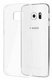 Samsung Galaxy S6 Edge Şeffaf Beyaz Kristal Kılıf