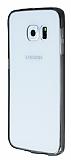 Samsung Galaxy S6 Edge Plus Siyah Silikon Kenarlı Kristal Kılıf