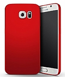 Samsung Galaxy S6 Edge Tam Kenar Koruma Kırmızı Rubber Kılıf
