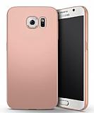 Samsung Galaxy S6 Edge Tam Kenar Koruma Rose Gold Rubber Kılıf