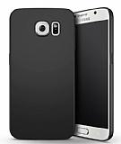 Samsung Galaxy S6 Edge Tam Kenar Koruma Siyah Rubber Kılıf