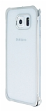 Samsung Galaxy S6 Silver Kenarlı Şeffaf Rubber Kılıf