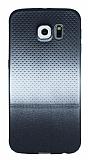 Samsung Galaxy S6 Silver Noktalı Ultra İnce Silikon Kılıf