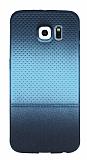 Samsung Galaxy S6 Noktalı Ultra İnce Mavi Silikon Kılıf