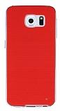 Samsung Galaxy S6 Şeffaf Kenarlı Kırmızı Silikon Kılıf