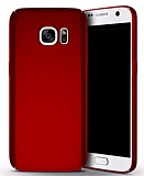Samsung Galaxy S7 Tam Kenar Koruma Kırmızı Rubber Kılıf