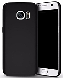 Samsung Galaxy S7 Tam Kenar Koruma Siyah Rubber Kılıf