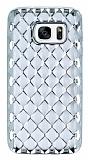 Samsung Galaxy S7 Diamond Silver Kenarlı Şeffaf Silikon Kılıf