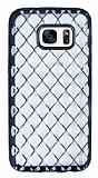 Samsung Galaxy S7 Diamond Siyah Kenarlı Şeffaf Silikon Kılıf