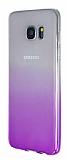 Samsung Galaxy S7 Edge Geçişli Mor Silikon Kılıf