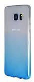Samsung Galaxy S7 Edge Geçişli Mavi Silikon Kılıf