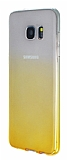 Samsung Galaxy S7 Edge Geçişli Sarı Silikon Kılıf