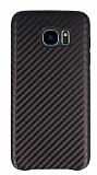 Samsung Galaxy S7 Edge Karbon Görünümlü Kahverengi Rubber Kılıf