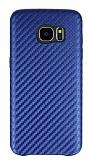 Samsung Galaxy S7 Edge Karbon Görünümlü Lacivert Rubber Kılıf