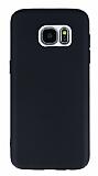 Samsung Galaxy S7 Edge Metal Kamera Korumalı Siyah Silikon Kılıf