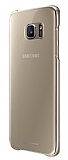 Samsung Galaxy S7 Edge Orjinal Metalik Gold Kenarlı Kristal Kılıf