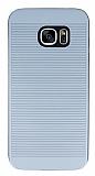 Samsung Galaxy S7 edge Silikon Kenarlı Gri Kılıf
