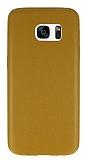 Samsung Galaxy S7 Edge Kahverengi Deri Rubber Kılıf