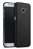 Samsung Galaxy S7 Edge Tam Kenar Koruma Siyah Rubber Kılıf
